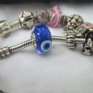 Authentic new Pandora evil eye murano retired